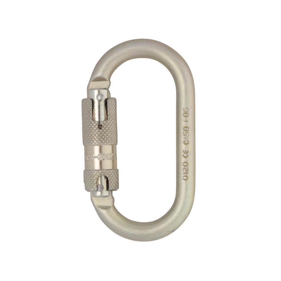 Steel Oval Kwiklock Carabiner