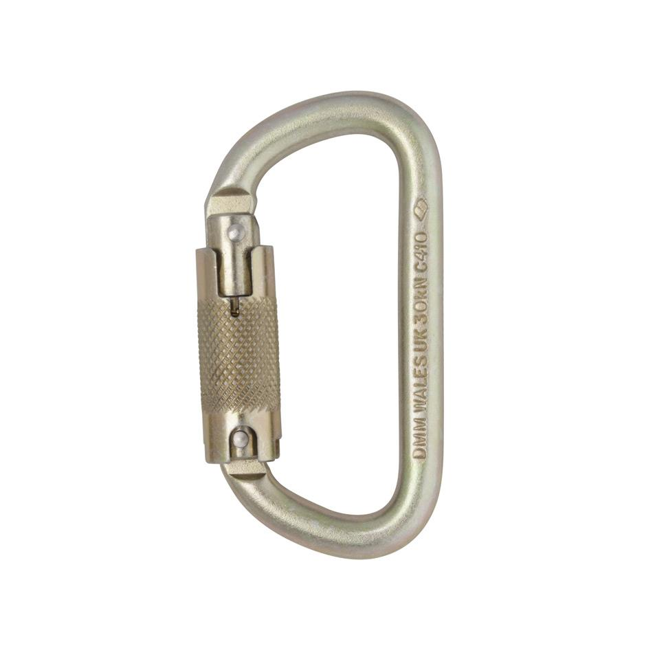 Steel 10mm Equal D Locksafe ANSI Carabiner