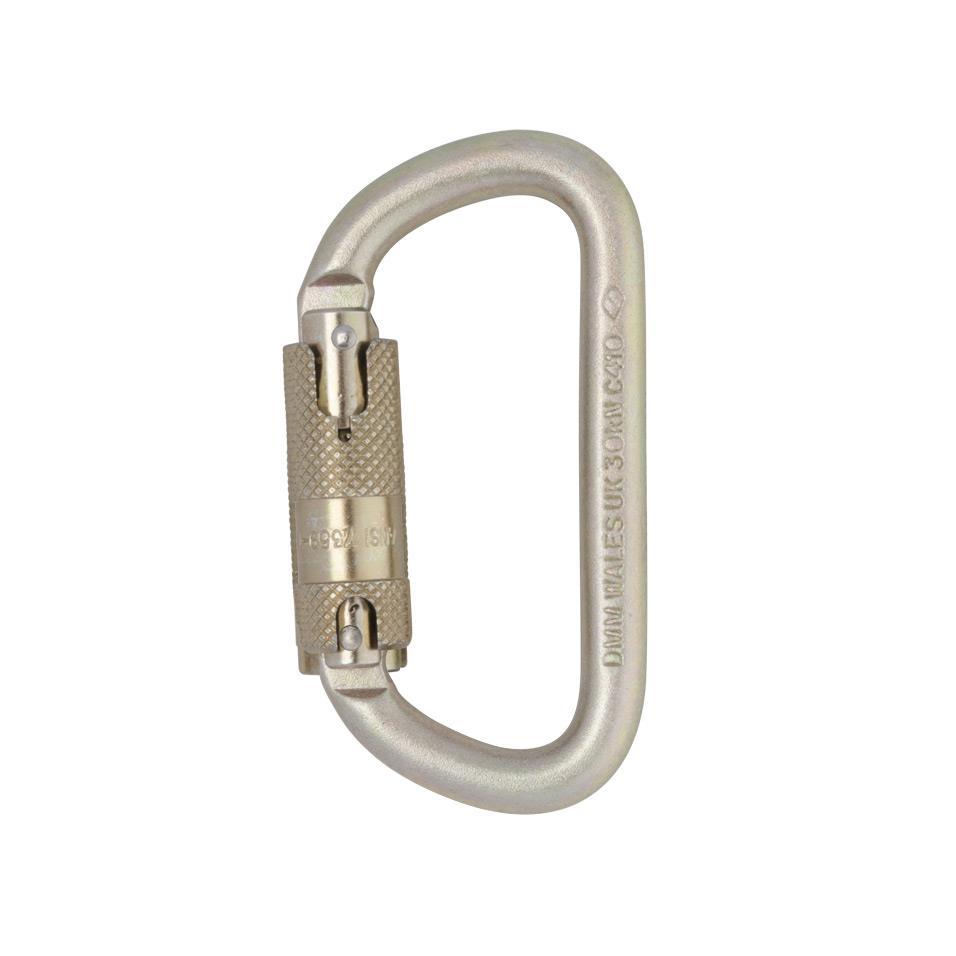 Steel 10mm Equal D Kwiklock ANSI Carabiner