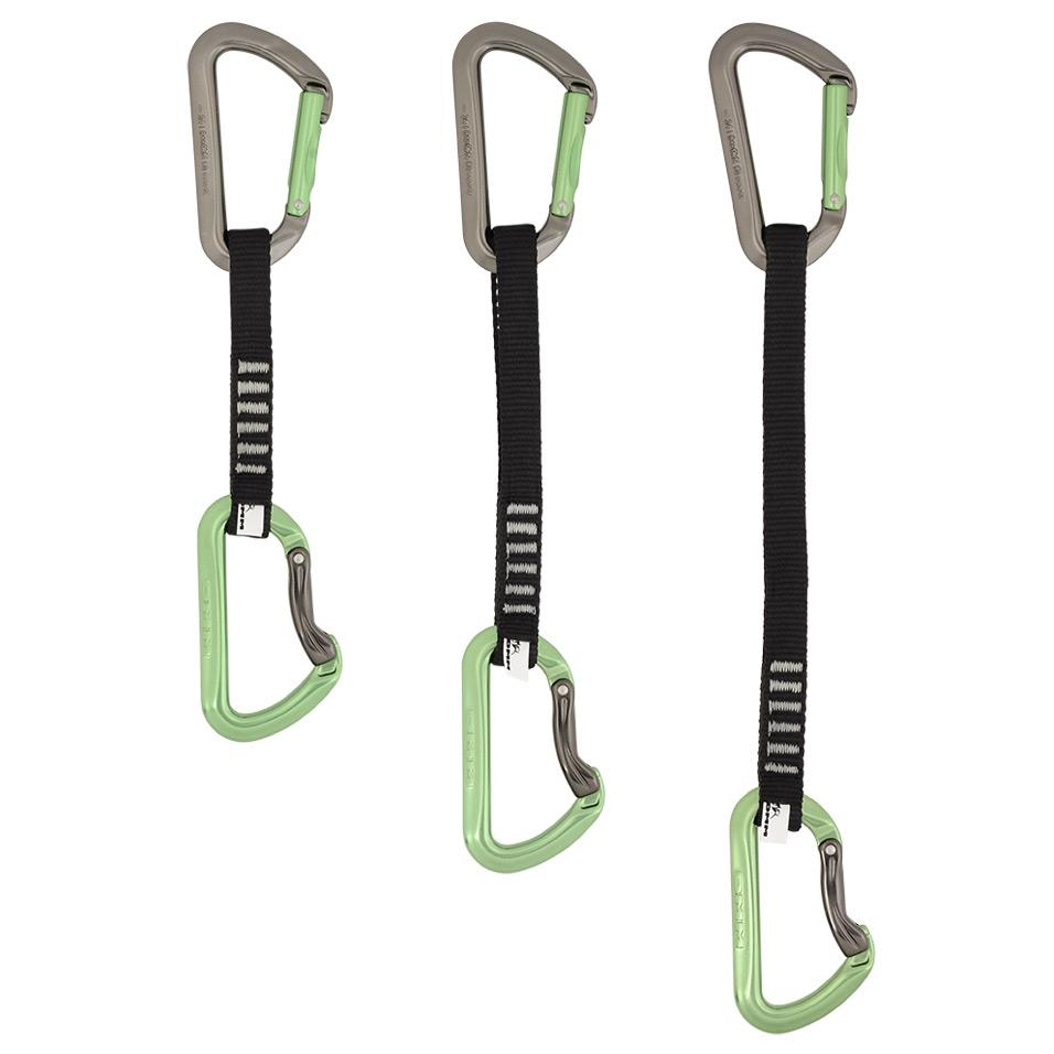 Aero Quickdraw - Green. Available in 12, 18 and 25cm lengths.
