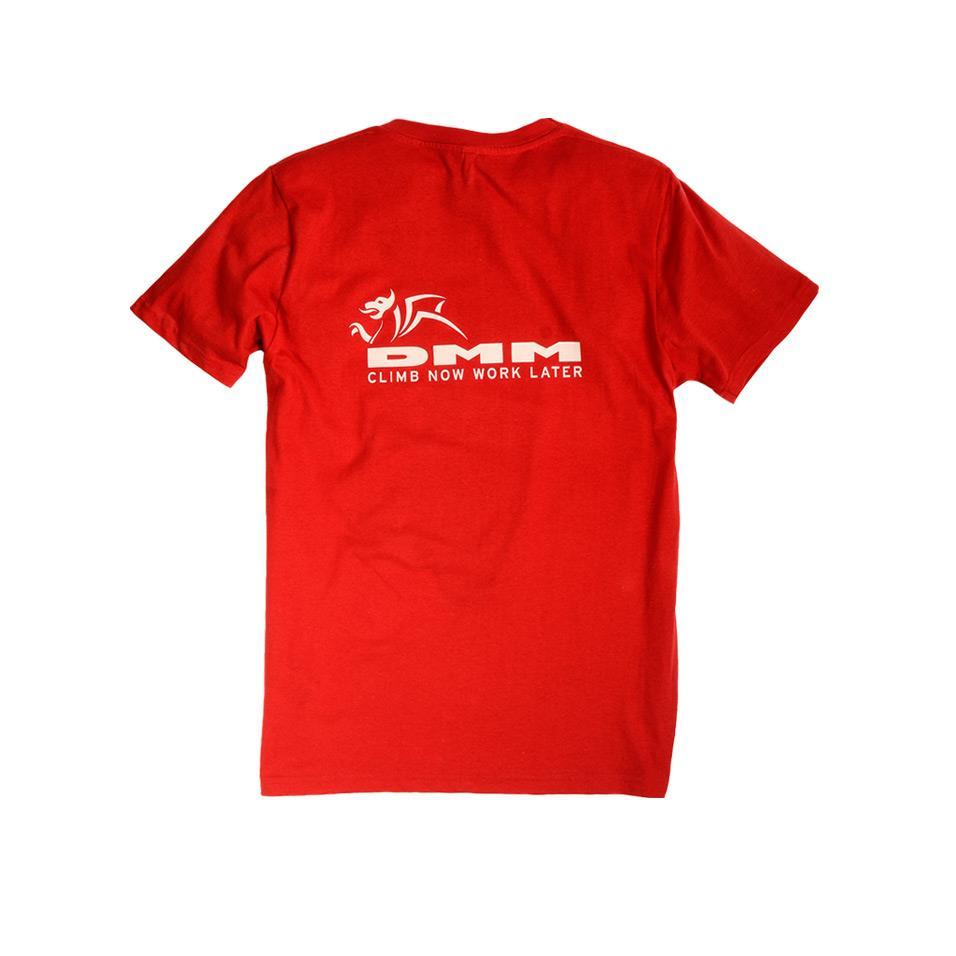 Mens DMM T-shirt Red back