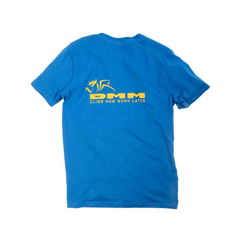 Mens DMM T-shirt Bright Blue back