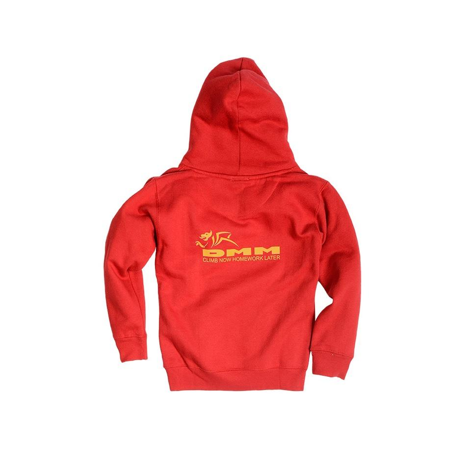 Kids Homework Hoodie Red back
